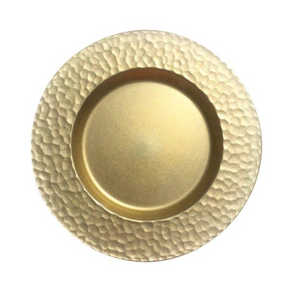 Тарелка Голд стекло золотая