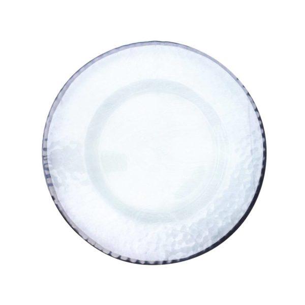 Прозрачная тарелка с кантом