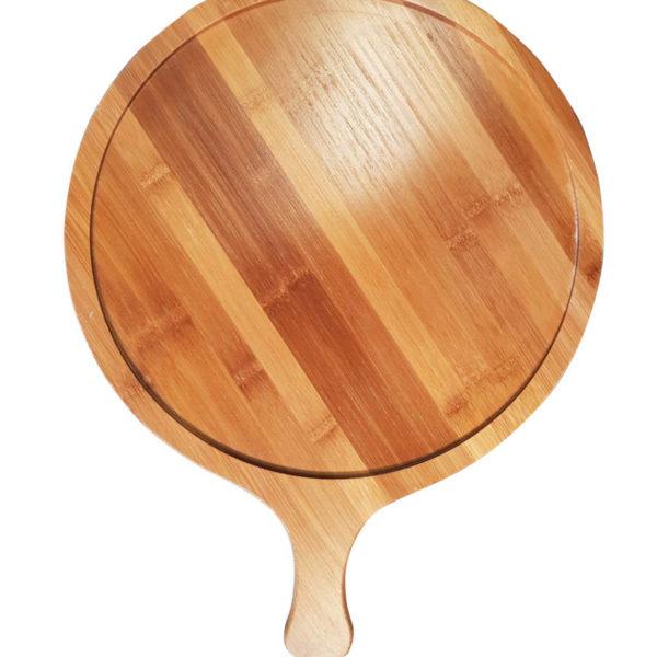 Блюдо деревянное с ручкой