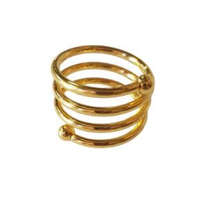 кольцо для салфетки золото