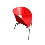 кресло красное стул