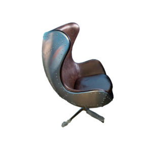 Кресло металл кожа