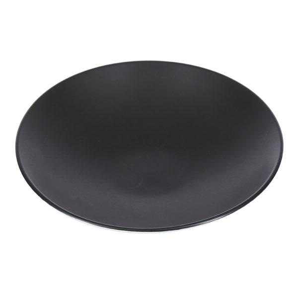Тарелка черная фарфор