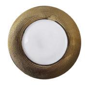 Тарелка фарфор золото