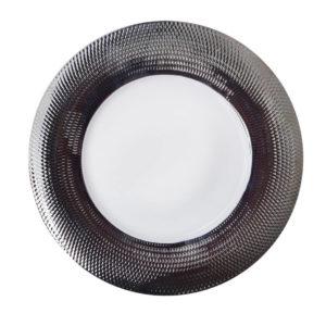Тарелка фарфор серебро