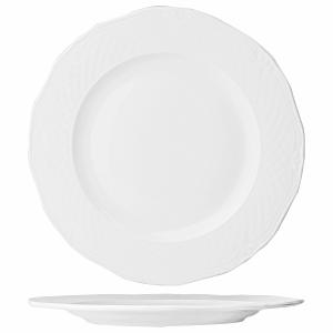Тарелка мелкая «Джорджия» фарфор D=27см белая