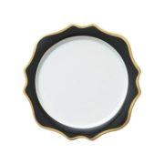 Тарелка Анна черная