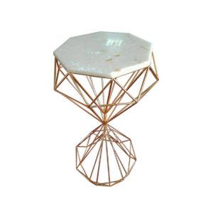 Стол декоративный камень/золото Н75 D40