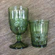 стакан зеленый стекло