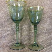 бокалы зеленые стекло