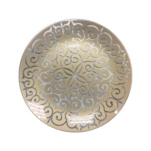 Тарелка золото