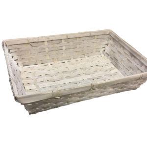 Корзина деревянная плетеная 37/26см белая