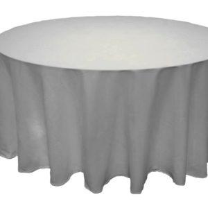 Скатерть круглая Ø 3,15м серебристо-серая