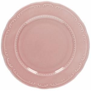 Тарелка мелкая «Венеция» фарфор D=28см розовый