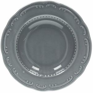 Тарелка глубокая «Венеция» фарфор D=23см серый