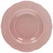 Тарелка розовая венеция фоарфор