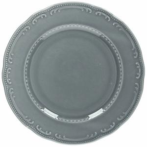 Тарелка мелкая «Венеция» фарфор D=28см серый