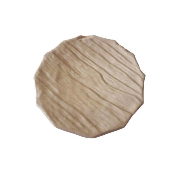 Блюдо круглое слоновая кость D29