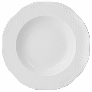 Тарелка глубокая «Джорджия» фарфор 250мл D=22.5 белая