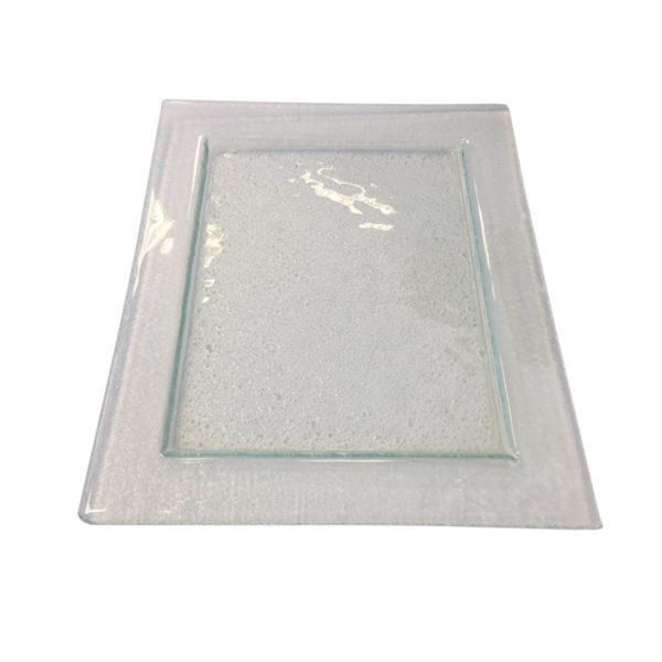 """Блюдо """"Rain"""" прямоугольное стекло 32/26"""