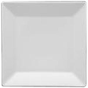 Тарелка квадратная «Оригами» фарфор 21,5см белый