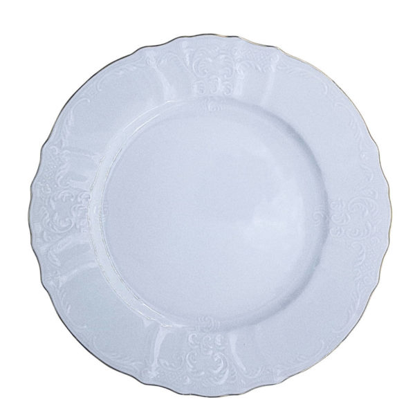 тарелка с золотой каймой