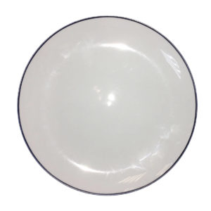 Тарелка с синей каймой
