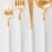 приборы золото белые