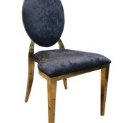 стул черный золото