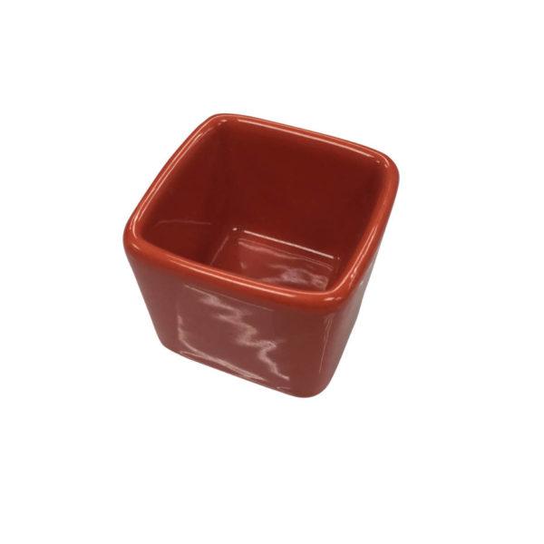 соусник фарфор красный