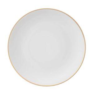 тарелка белая золото