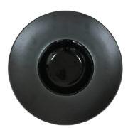 Тарелка для пасты черная