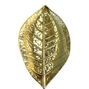 Мини тарелка золотая