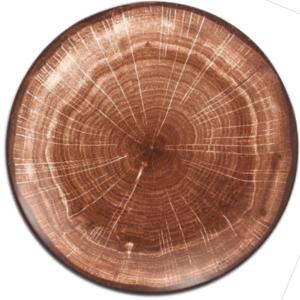 тарелка Дерево спил фарфор