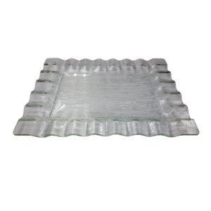блюдо прямоугольное прозрачное
