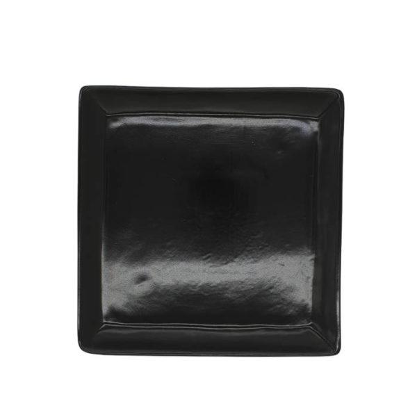 блюдо черное квадрат